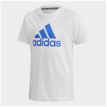 販売主:スポーツオーソリティ アディダス/キッズ/B MH BOS Tシャツ レディース ホワイト/ブルー 130 【SPORTS AUTHORITY】