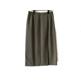【中古】 レリアン Leilian ロングスカート サイズ13 L レディース グレー