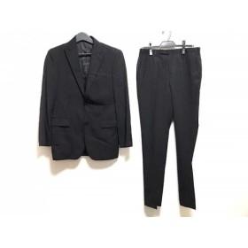 【中古】 バーバリーブラックレーベル Burberry Black Label シングルスーツ メンズ 黒 ストライプ