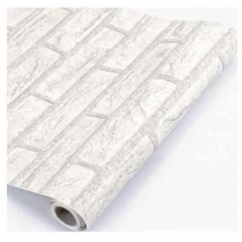 壁紙シール DIY 防水[43214-1018](アンティークホワイト) 45cm×10m かんたん貼付シールタイプ レンガ