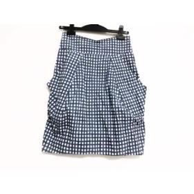 【中古】 ドゥーズィエム DEUXIEME CLASSE スカート サイズ36 S レディース 白 ネイビー 黒 チェック柄