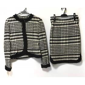 【中古】 ジェニー GENNY スカートスーツ サイズ44 L レディース 黒 白