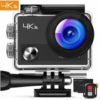 アクションカム WIFI搭載 170度広角レンズ 防水カメラ 4K 30m防水 2インチL アクションカメラ スポーツカメラ