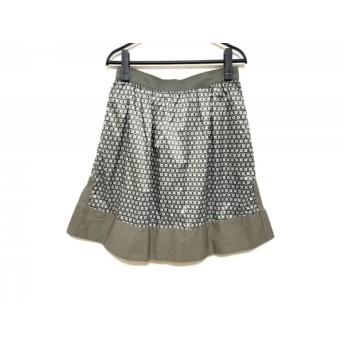 【中古】 マックス&コー MAX & CO. スカート サイズ38 S レディース 美品 カーキ ライトグレー 黒