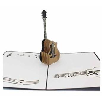 誕生日(ギター) カード 寄せ書き 飛び出す 手紙 グリーディング メッセージ アルバム 色紙 ホップアップ
