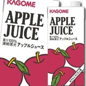 【送料無料】カゴメ アップルジュースホテルレストラン用1L×1ケース(全6本)