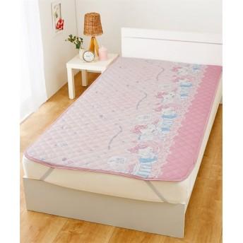 サンリオ。ハローキティ ひんやり気持ちいい冷感敷パッド 敷きパッド・ベッドパッド