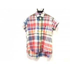 【中古】 ジムフレックス Gymphlex 半袖シャツ サイズ12 メンズ レッド ブルー マルチ チェック柄