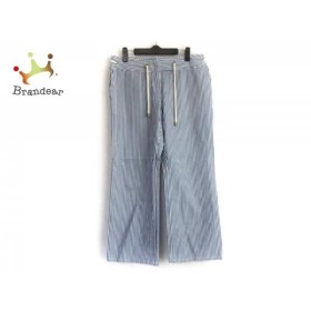 セリーヌ CELINE パンツ サイズ40 M レディース ブルー×白 ストライプ    値下げ 20190930