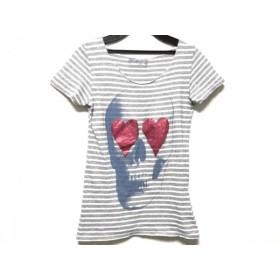 【中古】 マックスシックス maxsix 半袖Tシャツ サイズF レディース グレー 白 スカル/ボーダー