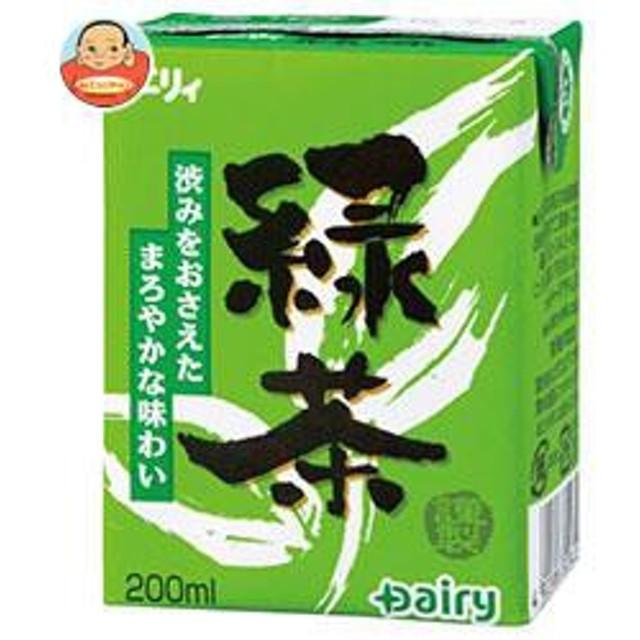 【送料無料】南日本酪農協同 デーリィ 緑茶 200ml紙パック×24本入
