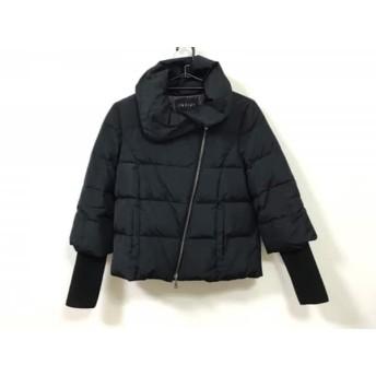 【中古】 インディビ INDIVI ダウンジャケット サイズ38 M レディース 黒 ジップアップ