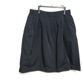 【中古】 ローズティアラ Rose Tiara ロングスカート サイズ42 L レディース 黒 ダークグリーン