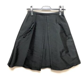 【中古】 ヌメロ ヴェントゥーノ N゜21 スカート サイズ38 M レディース 黒