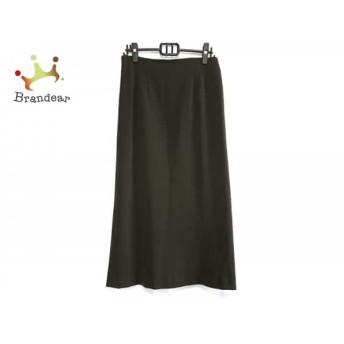 ニジュウサンク 23区 ロングスカート サイズ46 XL レディース 美品 ダークブラウン スペシャル特価 20190808