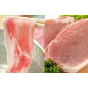 □【鹿児島県産】茶美豚 しゃぶしゃぶ用 & とんかつ用 1.8kg