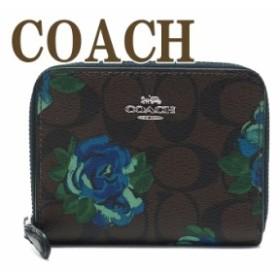 コーチ 財布 COACH 二つ折り 財布 レディース 花柄 38704SVN2R ブランド 人気