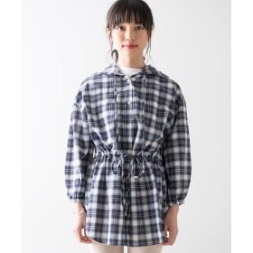 シャツ - WEGO【WOMEN】 ドロストフードBIG7分袖シャツ WE19SM04-L020