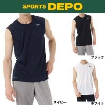 NIKE(ナイキ) メンズ ノースリーブ 機能シャツ ナイキ DRI-FIT レジェンド S/L Tシャツ トレーニングウェア (718836)