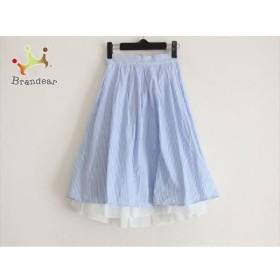 シークレットハニー Secret Honey スカート サイズ2 M レディース 美品 白×ブルー   スペシャル特価 20190728