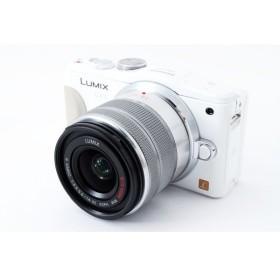 パナソニック Panasonic Lumix DMC-GF6W ホワイト レンズキット 極上美品 自分撮りミラーレス 元箱、レンズフード、8GB新品SDカード付き
