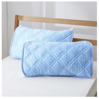 超冷感!接触冷感×吸汗速乾(防ダニ。抗菌防臭)のピローパッド同色2枚組 枕カバー・ピローパッド