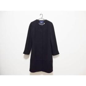 【中古】 エムズグレイシー M'S GRACY コート サイズ40 M レディース 黒 冬物