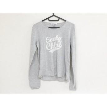 【中古】 シーバイクロエ SEE BY CHLOE 長袖Tシャツ サイズUSA 6 レディース グレー ライトグレー
