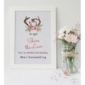 Antlers ハッシュタグサイン│ウェディング 結婚式 インスタサイン 北欧