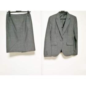 【中古】 コムサイズム COMME CA ISM スカートスーツ レディース 美品 ダークグレー