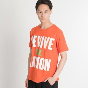 Tシャツ - WEGO【MEN】 3段ビック配色ロゴT(S) BR18SM05-M035