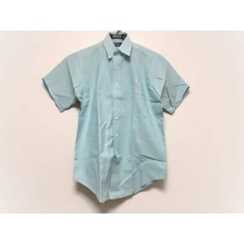 【中古】 ポロラルフローレン POLObyRalphLauren 半袖シャツ サイズM メンズ 美品 ライトグリーン