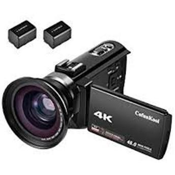 CofunKool 4Kビデオカメラ wifi 48MP 16倍デジタルズーム デジタルカメラ USBケーブル 3.0インチタッチIPSディスプレイ WIFI機能 HDMI出