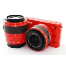 ニコン Nikon 1 J2 オレンジ ダブルレンズキット 極上美品 ミラーレス一眼始めるならこれ 新品SDカード、レンズフード付き