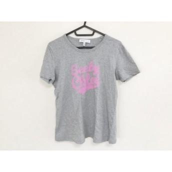 【中古】 シーバイクロエ SEE BY CHLOE 半袖Tシャツ サイズUSA 6 レディース グレー ピンク ロゴプリント