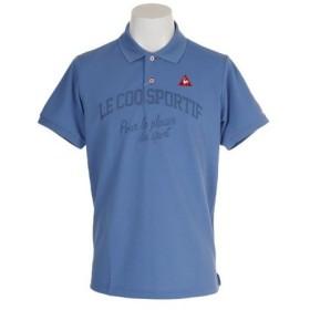 ルコック スポルティフ(Lecoq Sportif) ゴルフウェア メンズ マナードリネン鹿の子半袖シャツ QGMNJA25-BL00 (Men's)