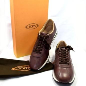 Tods / トッズ ◆レザースニーカー/ブラウン/サイズ7(25cm) メンズ【靴/クツ/シューズ/SHOES】 【中古】