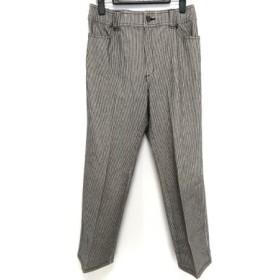 【中古】 バレンザ VALENZA パンツ サイズ44 L レディース グレー 白 ストライプ