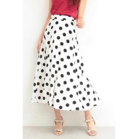 PROPORTION BODY DRESSING / プロポーションボディドレッシング  ミモレドットフレアスカート