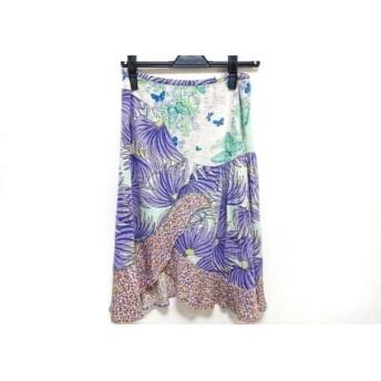【中古】 ツモリチサト TSUMORI CHISATO スカート レディース ライトグリーン マルチ 花柄