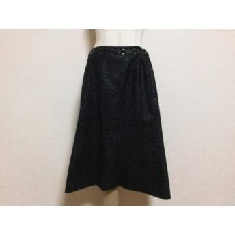 【中古】 レリアン Leilian スカート サイズ9 M レディース 美品 グレー