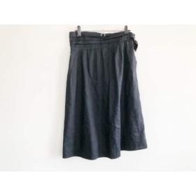 【中古】 アニエスベー agnes b スカート サイズ38 M レディース 黒