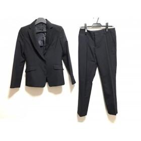 【中古】 コムサイズム レディースパンツスーツ サイズM レディース 美品 ダークネイビー チェック柄