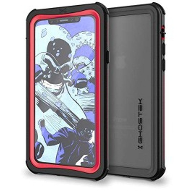 GHOCAS824 for ノーティカル IP68防水防塵タフネスケース iPhoneX/レッド