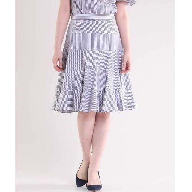 ef-de / 《Maglie collection》ヘムフレアストライプスカート