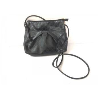 【中古】 ゲラルディーニ GHERARDINI ショルダーバッグ 美品 黒 ミニサイズ PVC(塩化ビニール)