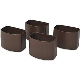 山善 脚のびたくん 平脚用(こたつ・テーブル用継脚) 4個入り ブラウン H-1455(T)