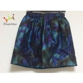 ドゥロワー Drawer スカート サイズ38 M レディース ネイビー×ダークグリーン×マルチ     スペシャル特価 20191123