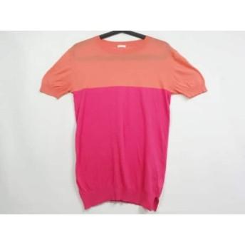 【中古】 ドレステリア DRESSTERIOR 半袖セーター レディース オレンジ ピンク シルク