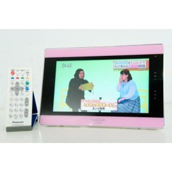 【中古】Panasonicパナソニック ポータブル地上デジタルテレビ 10V型 VIERAビエラ 防水 SV-ME7000-P ポータブルTV